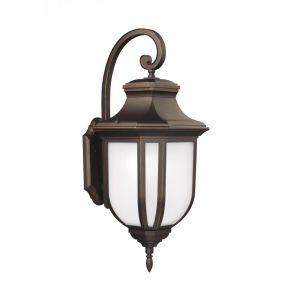 Sea Gull Lighting Childress Medium One Light Outdoor Wall Lantern in Antique Bronze