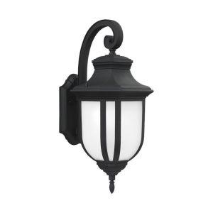 Sea Gull Lighting Childress Large 1-light Outdoor Wall Lantern in Black