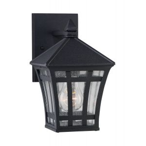 Sea Gull Lighting Herrington 1-Light Outdoor Wall Lantern in Black