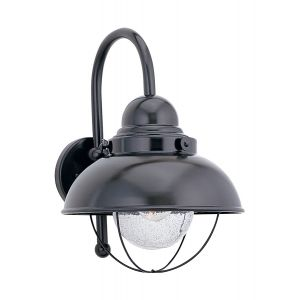 Sea Gull Lighting Sebring 1-Light Outdoor Wall Lantern in Black