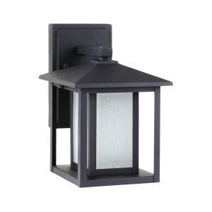 "Sea Gull Lighting Hunnington 7"" Outdoor Wall Lantern in Black"