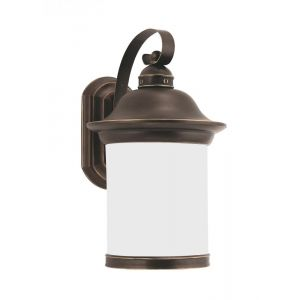 Sea Gull Lighting Hermitage One Light Outdoor Wall Lantern in Antique Bronze