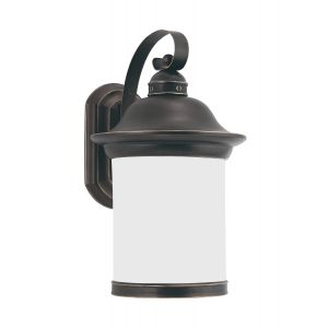 "Sea Gull Lighting Hermitage 9"" Outdoor Wall Lantern in Antique Bronze"