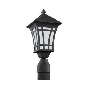 Sea Gull Lighting Herrington One Light Outdoor Post Lantern in Black