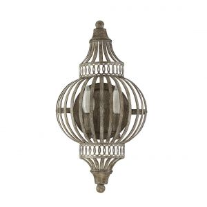 "Savoy House Ashford 18"" 2-Light Wall Sconce in Aged Wood"