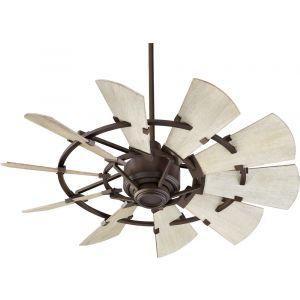 """Quorum International Windmill 44"""" Fan in Oiled Bronze"""