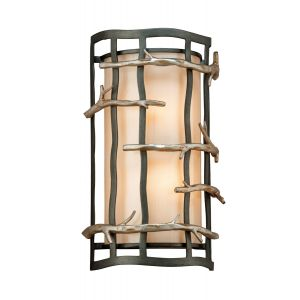 Troy Lighting Adirondack Wall Sconce in Silver Graphite