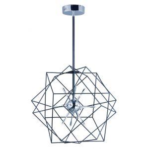 "ET2 Rubic LED 26"" 18-Light Pendant in Black and Polished Chrome"