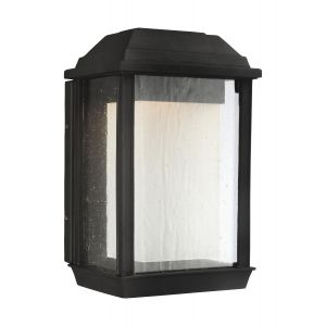 Feiss McHenry Small StoneStrong Outdoor LED Wall Lantern in Textured Black