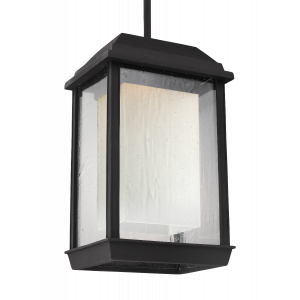 Feiss McHenry Outdoor LED Ceiling Pendant Lantern in Textured Black
