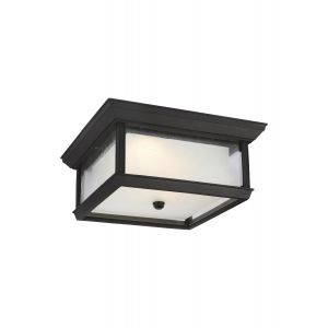 Feiss McHenry Outdoor LED Ceiling Light in Textured Black