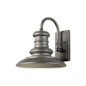 "Feiss Redding Station 12"" Outdoor Wall Light in Tarnished Silver"