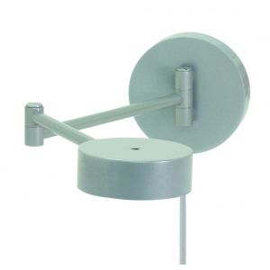 """House of Troy Generation 5"""" Swing Arm Wall Lamp in Platinum Gray"""