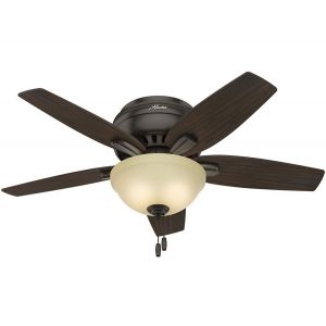 Hunter Newsome 2-Light Indoor Roasted Walnut Ceiling Fan in Bronze/Brown