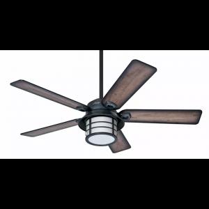 """Hunter Prestige Key Biscayne 54"""" Indoor/Outdoor Ceiling Fan in Zinc"""
