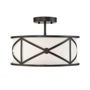 Trade Winds Lighting 3-Light Semi-Flush in Oil Rubbed Bronze