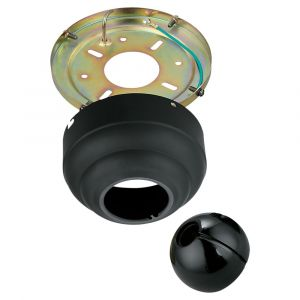 """Monte Carlo 5.25"""" Slope Ceiling Fan Adapter in Matte Black"""