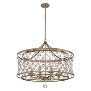 Metropolitan Vel Catena 8-Light Pendant in Arcadian Gold