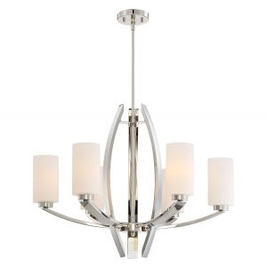 Metropolitan Glimrende 6-Light Chandelier in Polished Nickel