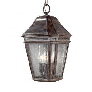 "Feiss Londontowne 15"" 3-Light Outdoor Hanging Lantern in Chestnut"