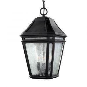 "Feiss Londontowne 17.25"" 3-Light Outdoor Hanging Lantern in Black"