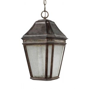 """Feiss Londontowne 17.25"""" LED Outdoor Hanging Lantern in Chestnut"""
