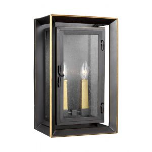 Feiss Urbandale 2-Light Outdoor Wall Lantern in Bronze/Burnished Brass
