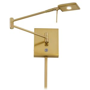 """George Kovacs George'S Reading Room 6"""" Wall Lamp in Honey Gold"""