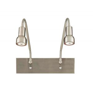 "George Kovacs Save Your Marriage 2-Light 9"" Wall Lamp in Brushed Nickel"