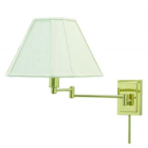 House of Troy Swing-Arm Wall Lamp in Polished Brass Finish