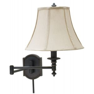 House of Troy Oil Rubbed Bronze Swing Arm Wall-Bead