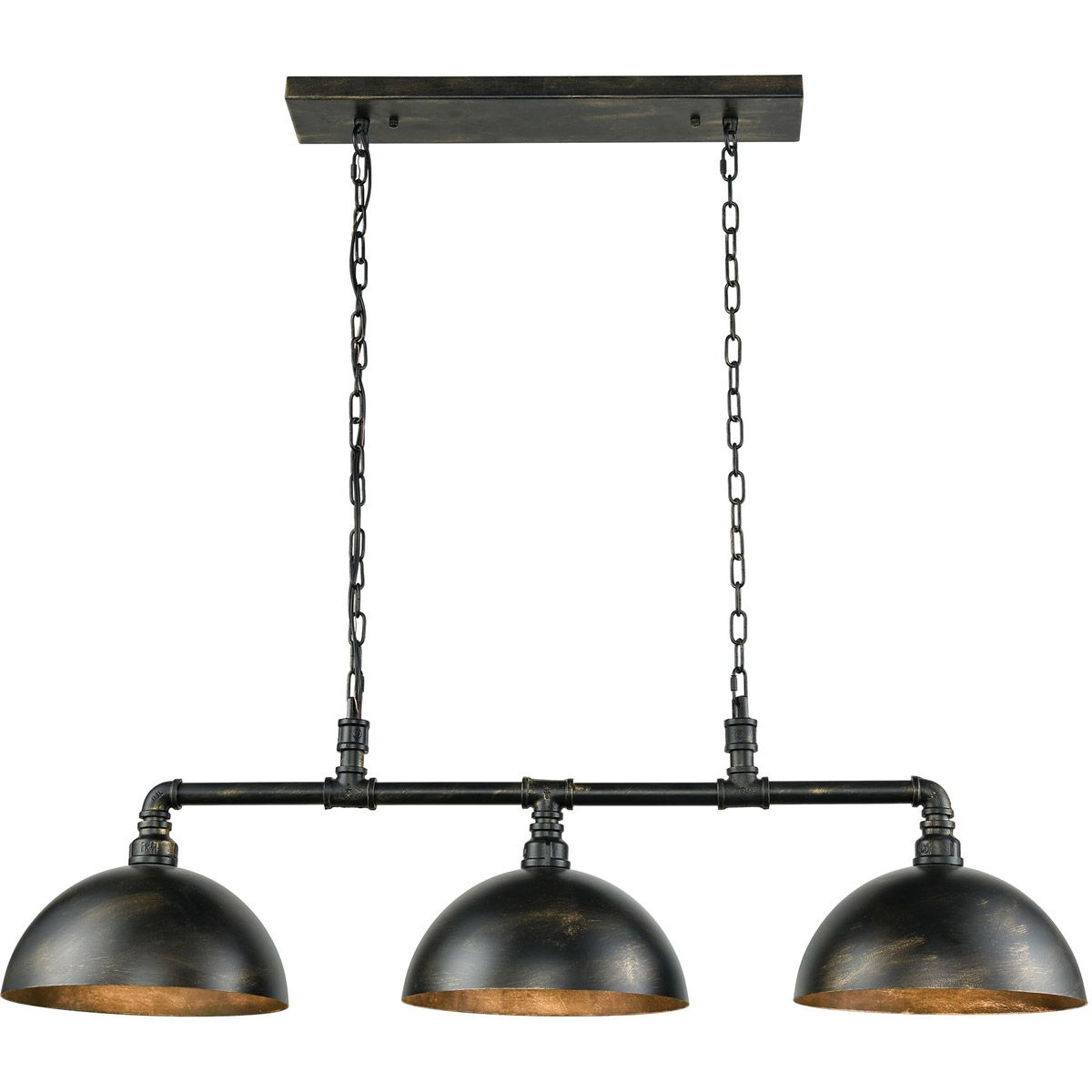 "Elk Lighting Mulvaney 49"" 3-Light Billiard In Black"