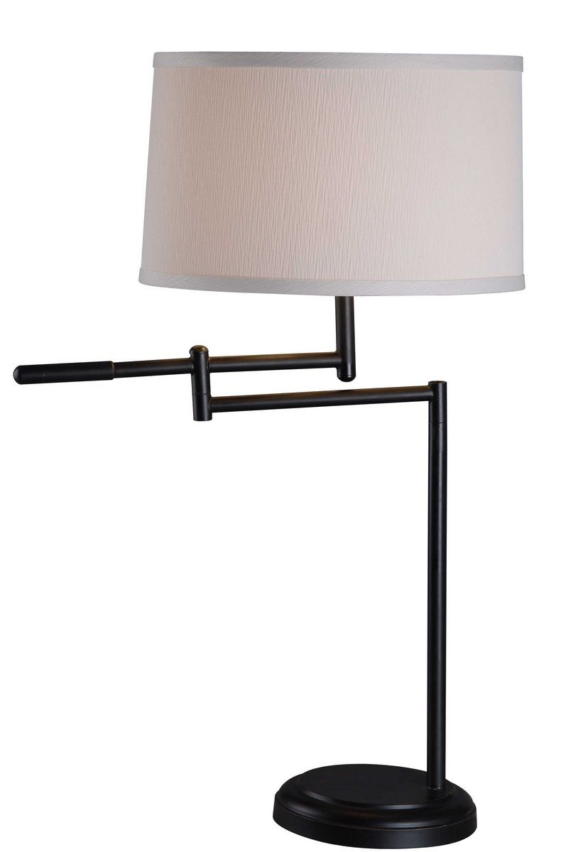 Kenroy Home Theta Swing Arm Table Lamp In Copper Bronze Finish