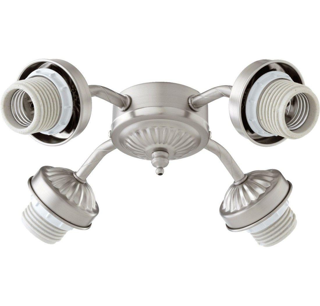 4 light ceiling fan bronze quorum kit 10