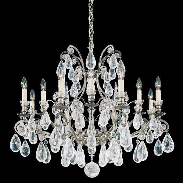 Schonbek Versailles 12-Light Antique Pewter Chandelier - Schonbek Versailles 12-Light Antique Pewter Chandelier - Traditional