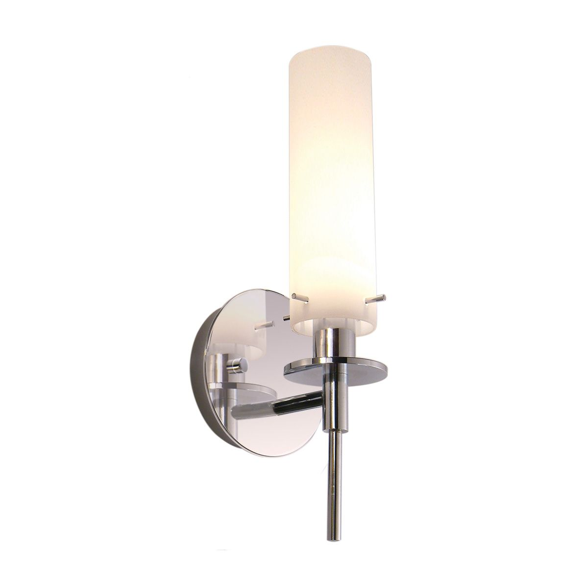 Chrome Candle Wall Sconce