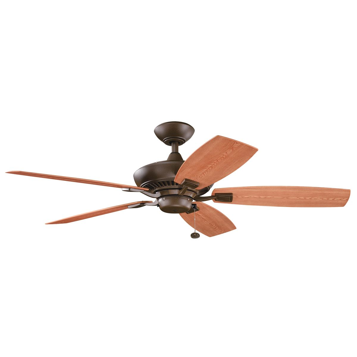 Kichler Canfield Patio 52 Ceiling Fan In Tannery Bronze Pwdr Ct