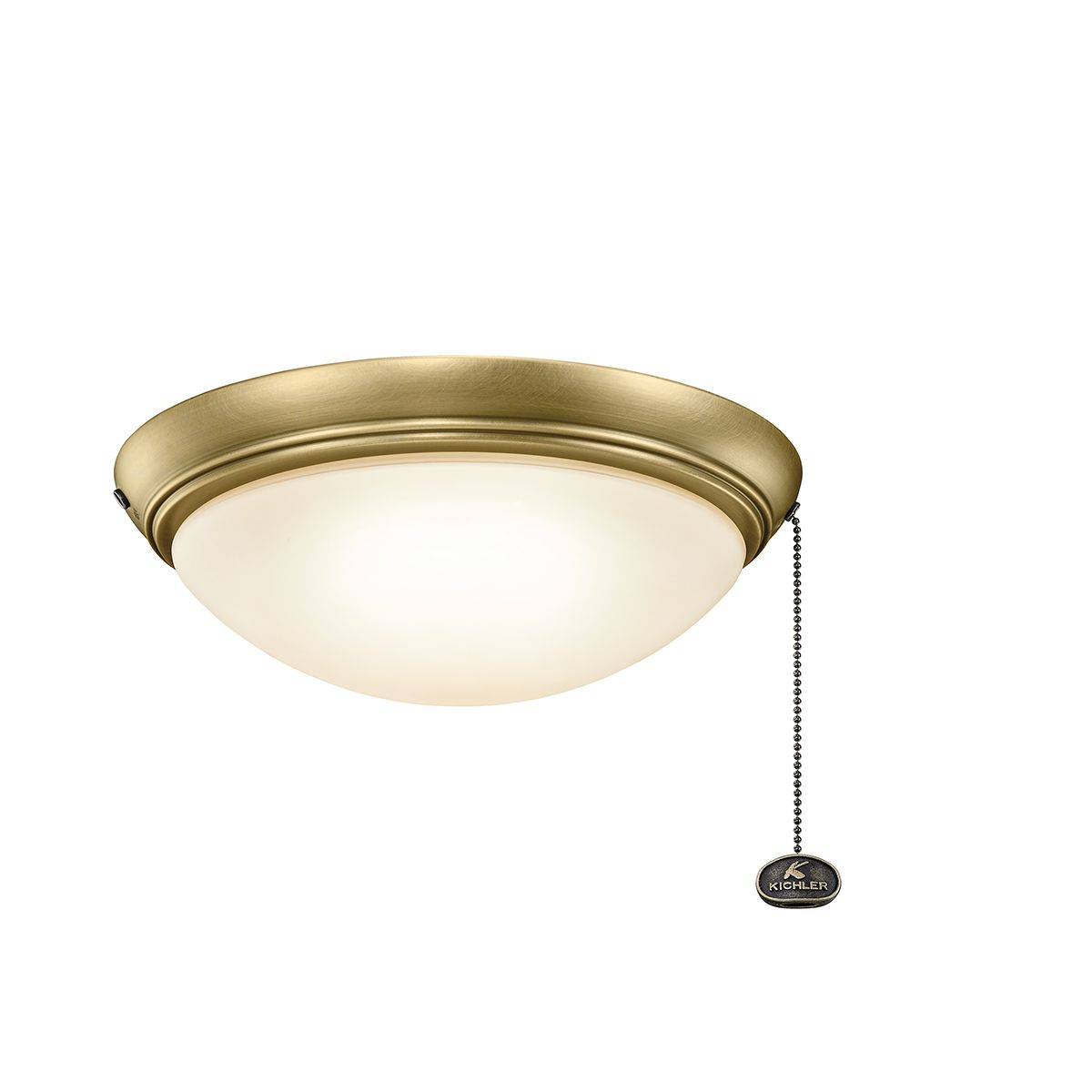kichler accessories low profile led ceiling fan light kit in natural brass ceiling fan light. Black Bedroom Furniture Sets. Home Design Ideas