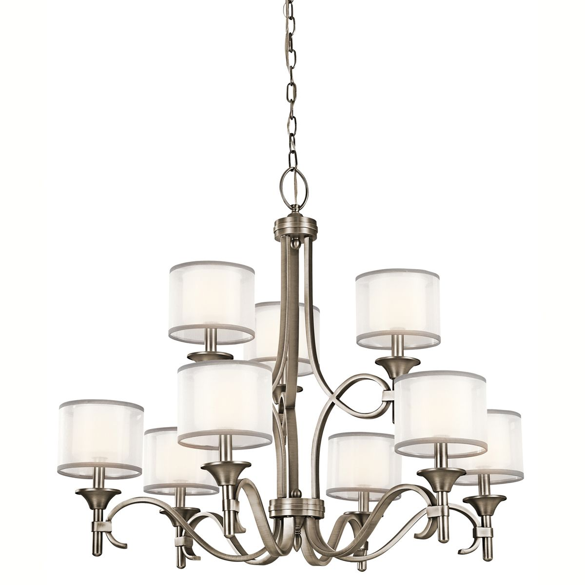Kichler Lacey 9-Light Chandelier in Antique Pewter - Kichler Lacey 9-Light Chandelier In Antique Pewter - Transitional