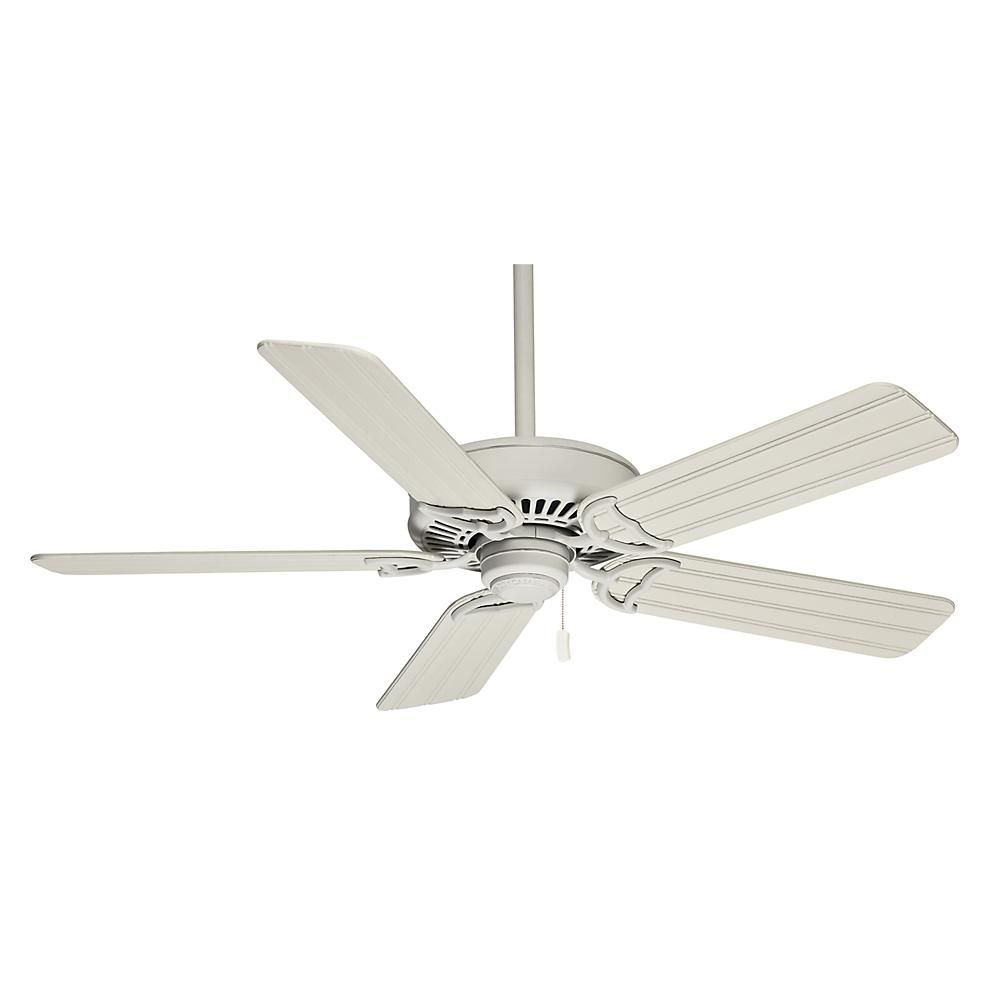 Casablanca 58 Panama Pullchain Outdoor Ceiling Fan In Cottage White