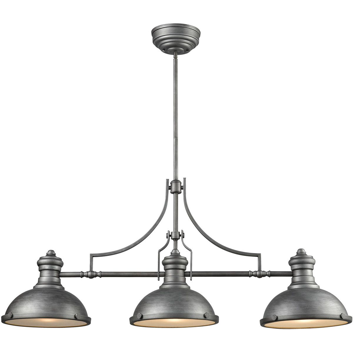 "Elk Lighting Chadwick Pendant: Elk Lighting Chadwick 47"" 3-Light Island Pendant In"