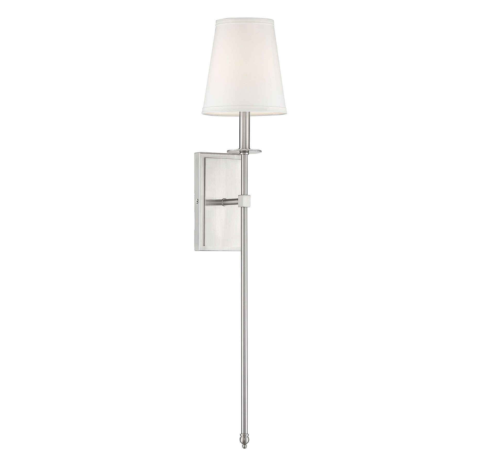 Savoy House Monroe 1 Light 34 Sconce In Satin Nickel
