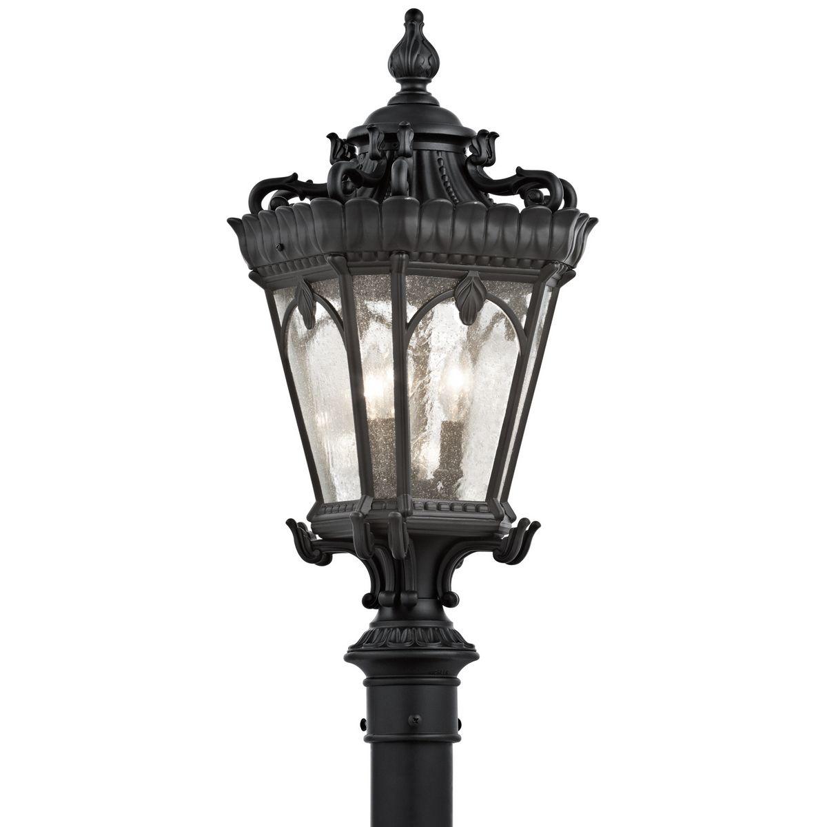 "Outdoor Post Down Lighting Fixtures: Kichler Tournai 3-Light 27"" Outdoor Post Lantern In"