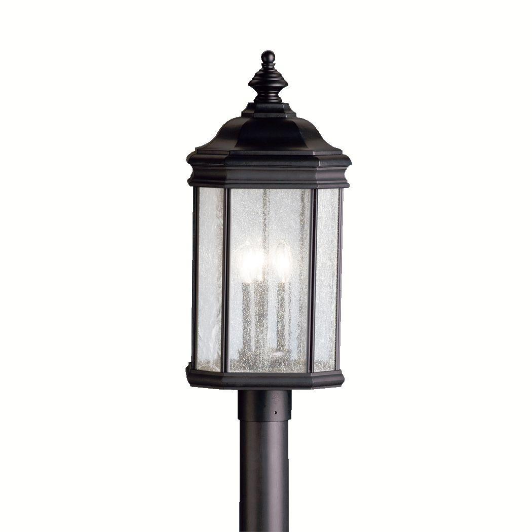 Kichler kirkwood 3 light 23 5 outdoor post lantern in for Outdoor living kirkwood