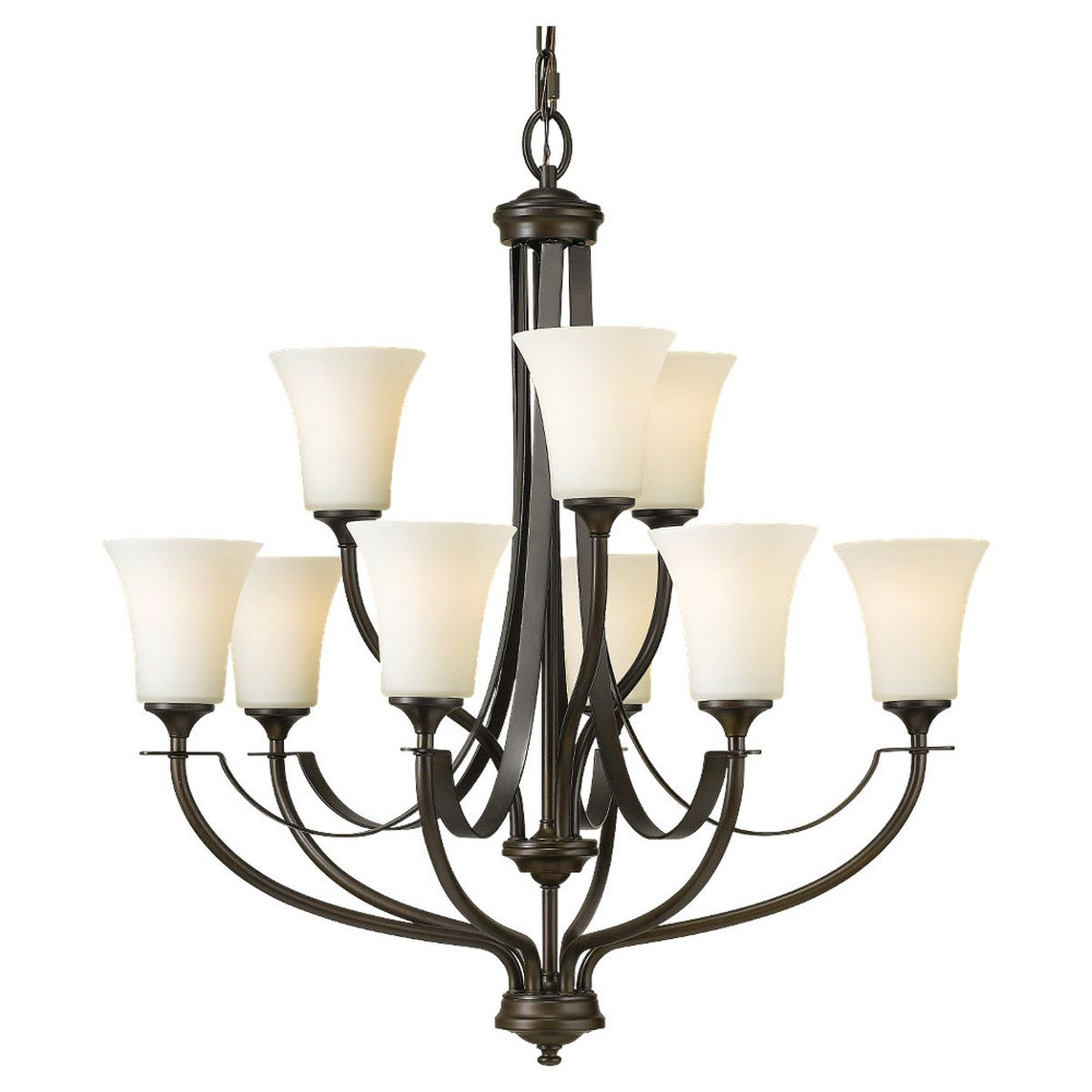 Murray Feiss Generation Brands: Feiss Barrington 9-Light Multi-Tier Chandelier In Bronze
