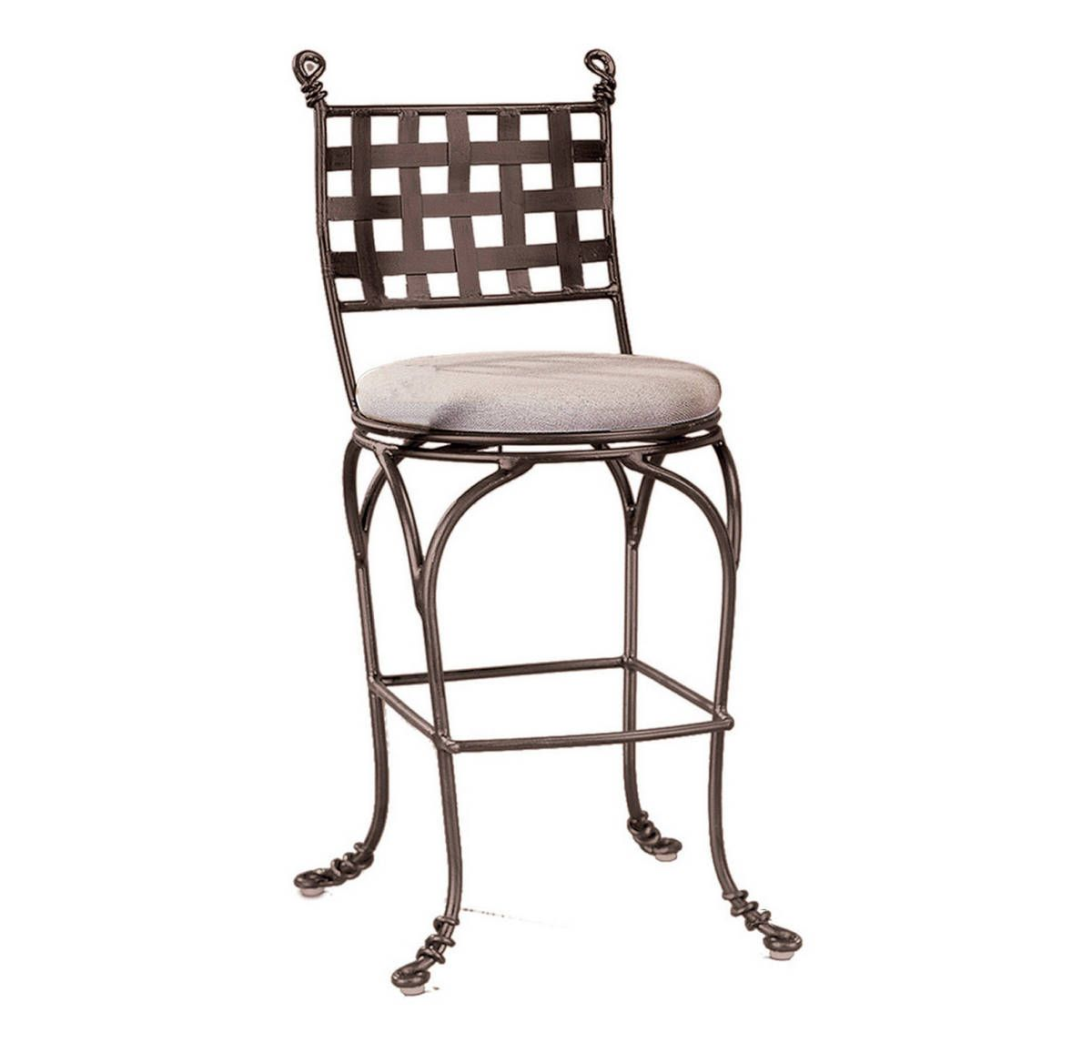 Kalco Vine Swivel Bar Stool W Out Arms In Bark Finish