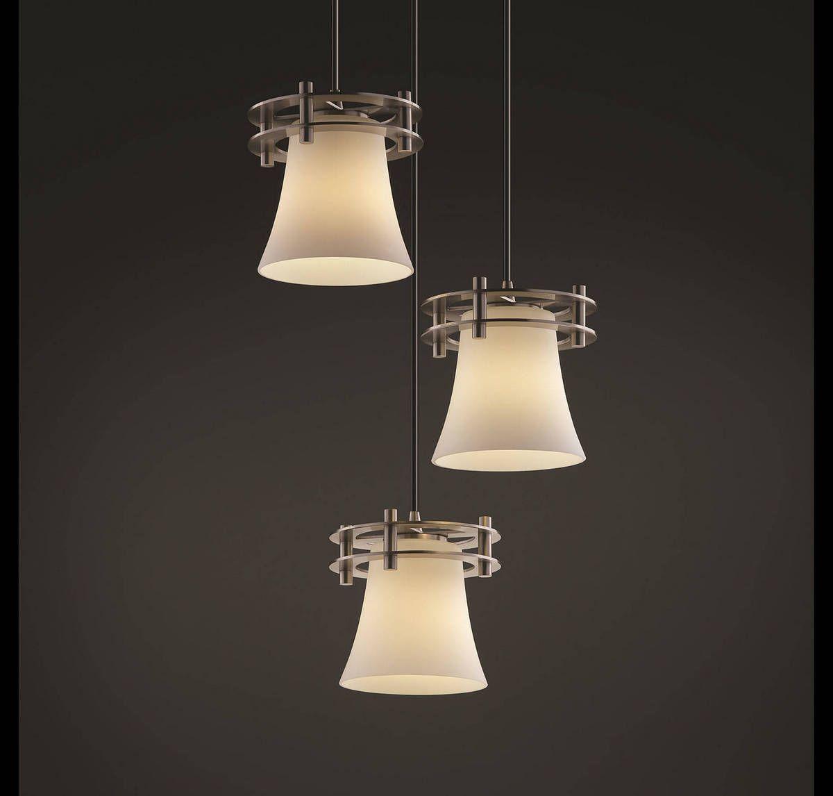 3 light cluster pendant 12 light justice design circa 3light cluster pendant in brushed nickel