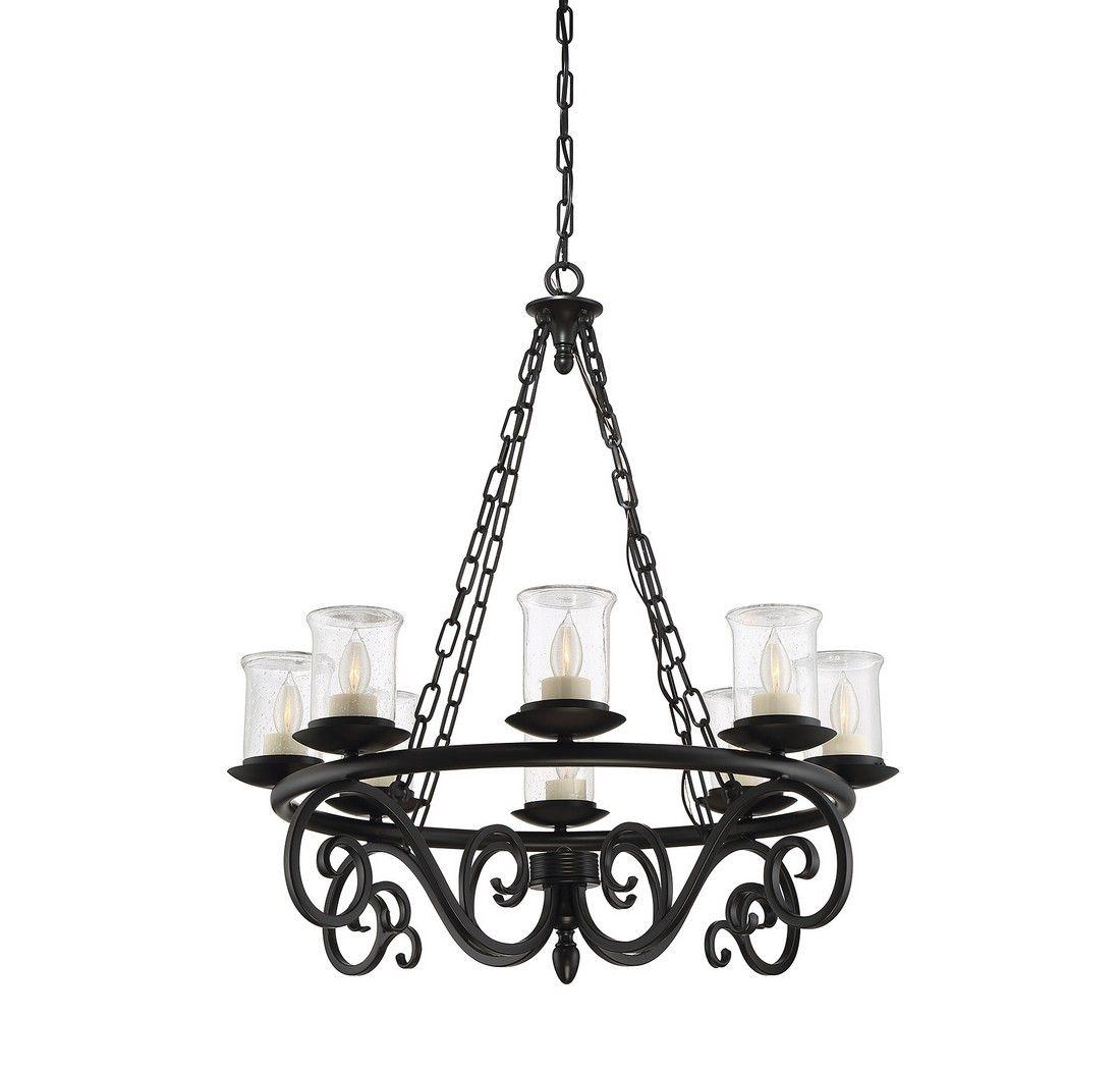 Chandelier Outdoor Lighting: Savoy House Welch 8-Light Outdoor Chandelier In Black