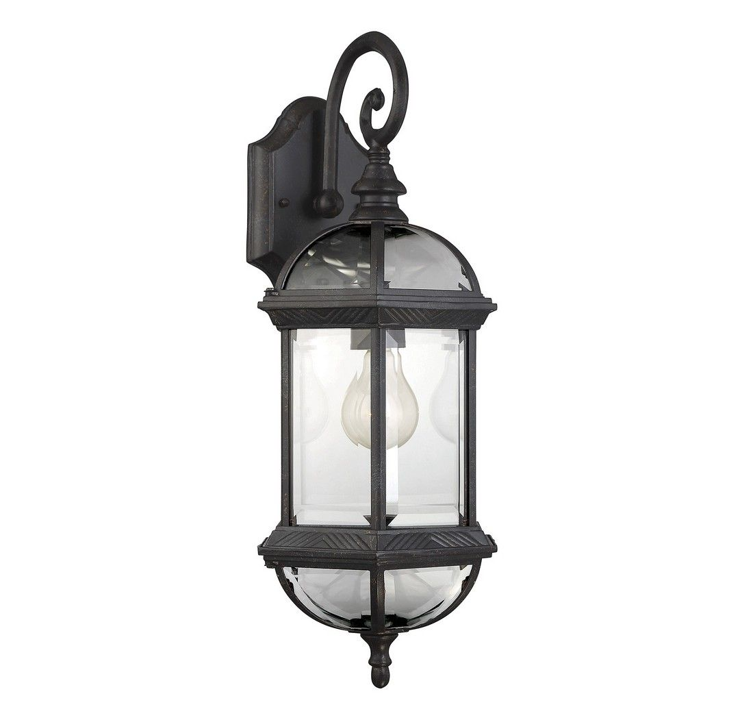 """Outdoor Wall Sconce Half Sun And Details Rustic Light: Savoy House Kensington 20"""" Outdoor Wall Lantern In Rustic"""