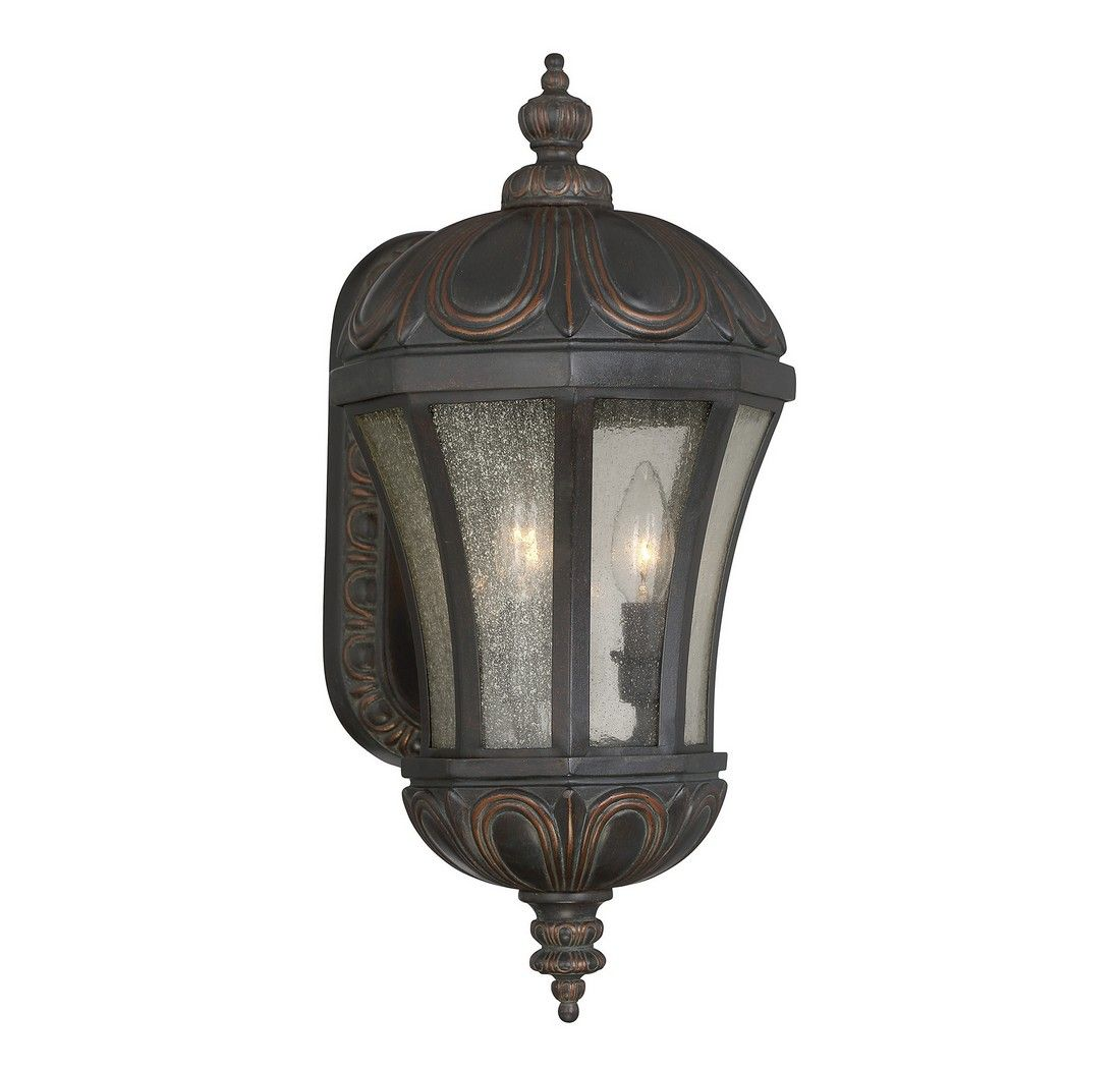 """Outdoor Wall Sconce Half Sun And Details Rustic Light: Savoy House Ponce De Leon 19"""" 3-Light Outdoor Wall Lantern"""